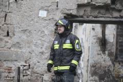 Viterbo - Incendio all\'ex chiesa di santa Croce