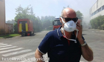 Incendio all'impianto di Casale Bussi - Il presidente della Provincia Mazzola