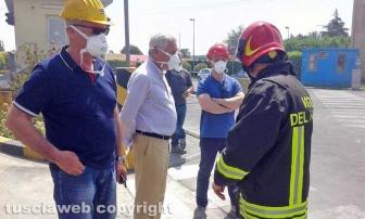 Incendio all'impianto di Casale Bussi - Michelini e Mazzola