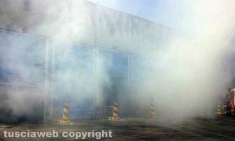 Incendio all'impianto di Casale Bussi