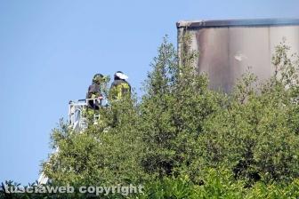 Incendio all'impianto di Casale Bussi - Il sopralluogo del sindaco