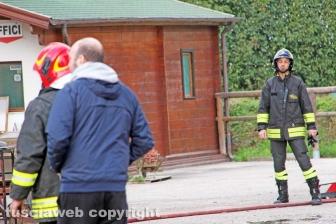 Incendio in falegnameria