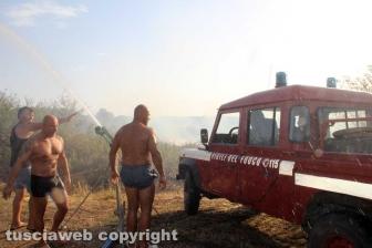 Incendio in località le Masse