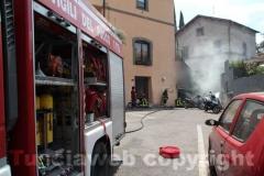 L\'intervento dei vigili del fuoco