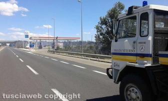 Incendio sulla Superstrada