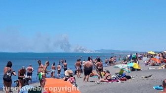 Incendio tra Capalbio e Pescia Romana