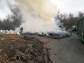 Fabrica di Roma - Incendio all'isola ecologica
