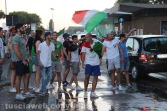 Italia ai quarti, festa a Viterbo