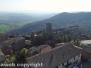 La città di Bassano in Teverina vista dall'alto