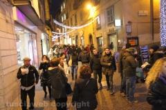 Viterbo - La città si rianima per il Natale - Corso Italia