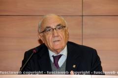 Il presidente della Banca di Viterbo Luigi Manganiello