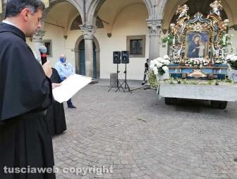 Viterbo - La processione della Madonna Liberatrice durante il Coronavirus