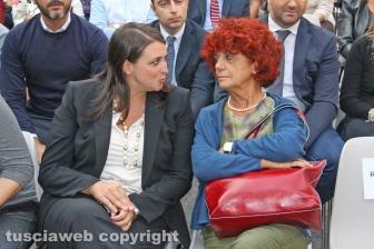 Festa democratica - La ministra Valeria Fedeli e Luisa Ciambella