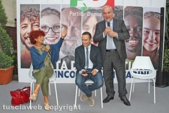 Festa democratica - La ministra Valeria Fedeli e Giuseppe Fioroni