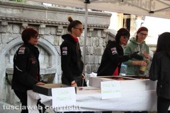La Motobenedizione in piazza san Lorenzo