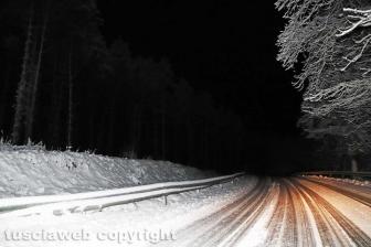 La neve di notte sui Cimini