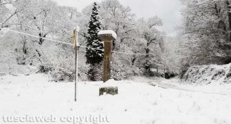 Maltempo - La neve sui Cimini