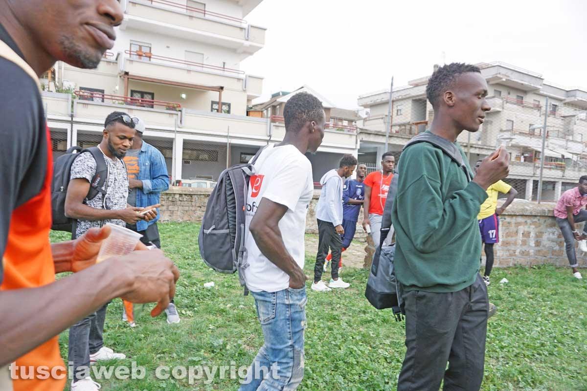 La partita di calcio al quartiere Pilastro
