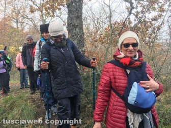 La passeggiata sulle vie dell'esilio di santa Rosa