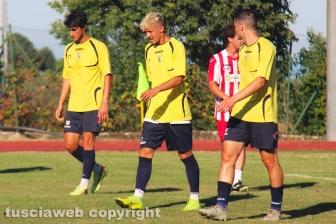 Sport - Calcio - Viterbese - Da sinistra: Svidercoschi, Molinaro e Capparella