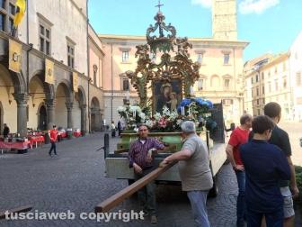 Viterbo - La preparazione della processione della Madonna Liberatrice