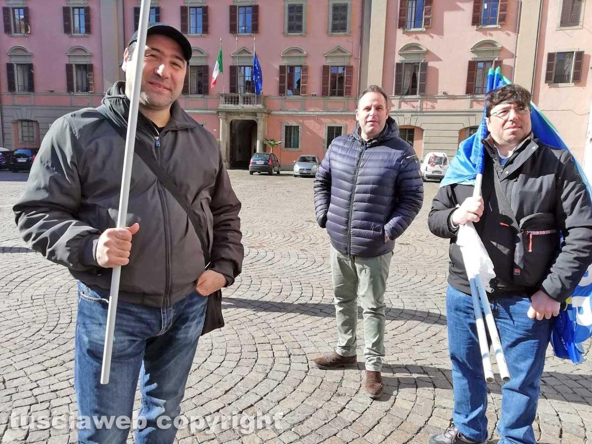 Viterbo - La protesta della polizia penitenziaria