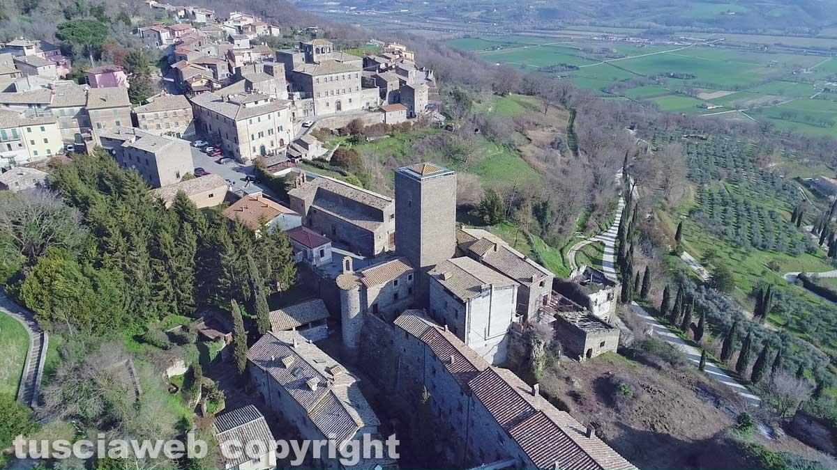 Bassano in Teverina vista dall'alto