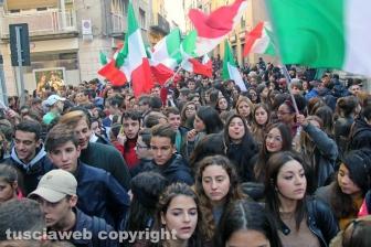 Viterbo - Manifestazione studentesca
