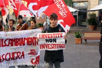 Viterbo - La protesta degli studenti