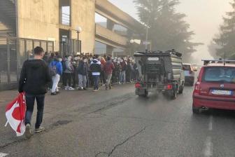 Montefiascone - Gli studenti del Dalla Chiesa in sciopero