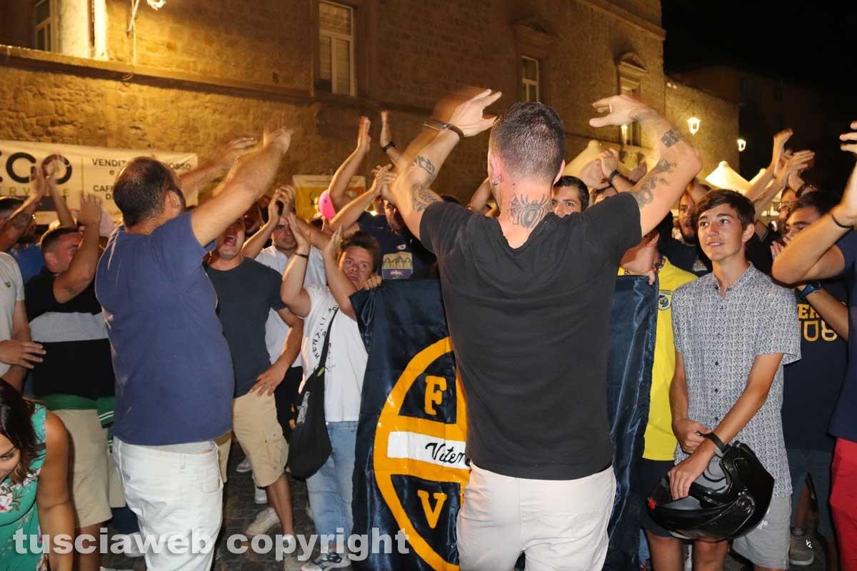 I tifosi della Viterbese alle cene dei facchini di santa Rosa