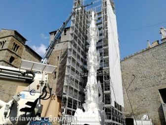San Sisto - In corso il montaggio della Macchina