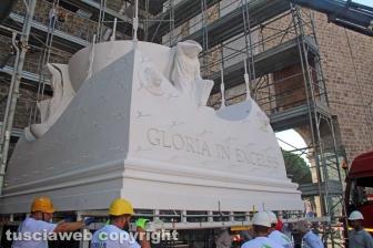 L'arrivo di Gloria e il montaggio