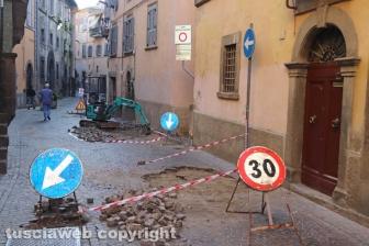 Viterbo - Lavori a via Annio