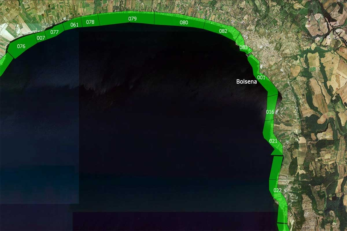 Arpa Lazio - Le acque idonee alla balneazione nel comune di Bolsena