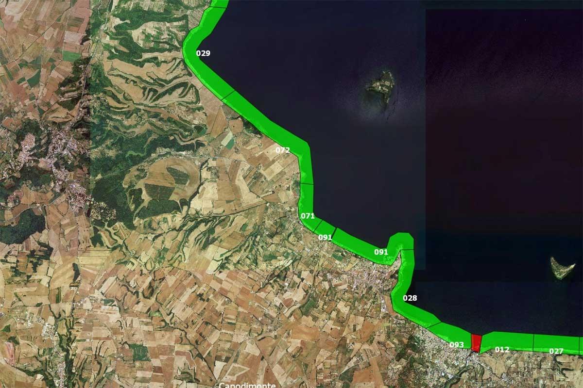 Arpa Lazio - Le acque idonee alla balneazione nel comune di Capodimonte