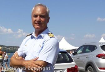Le Frecce tricolori sul lago di Bolsena - Il generale Giorgio Baldacci