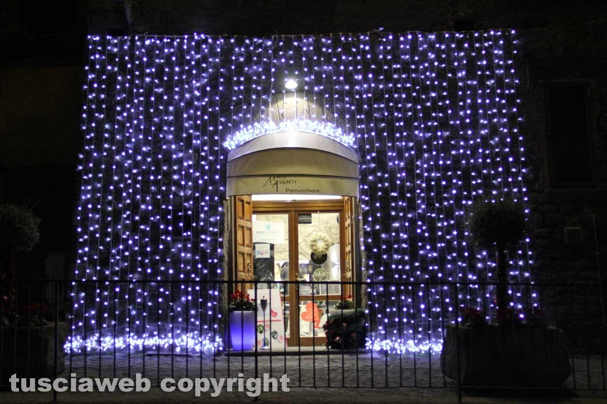 Le luci di Natale nel centro storico