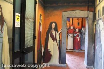 L'inaugurazione del murales nel sottopassaggio di Bagnaia