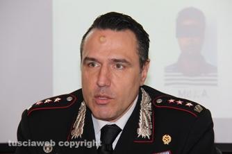 Operazione Silver and gold - Il comandante provinciale dei carabinieri, colonnello Mauro Conte