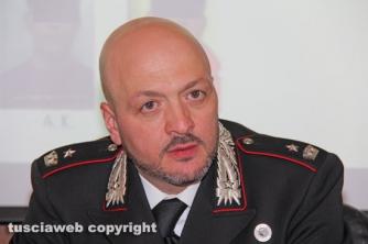 Operazione Silver and gold - Il maggiore Giovanni Rizzo, comandante dei carabinieri del reparto operativo di Viterbo
