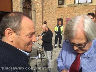 Sutri - Luca Seccafieno e Fabrizio Viti ospiti di Vittorio Sgarbi