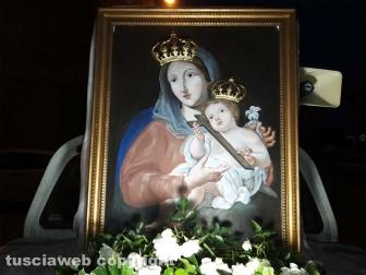 Montefiascone - L'immagine della Madonna del Giglio per le vie di Zepponami