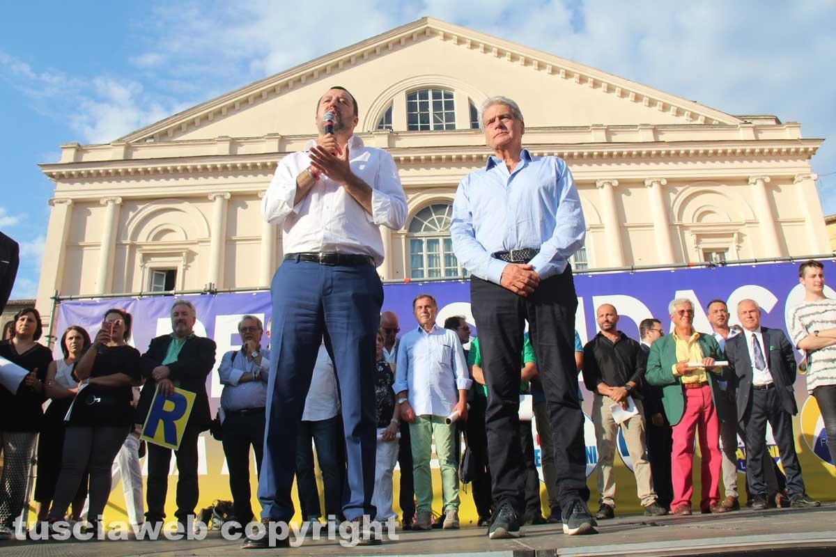 Matteo Salvini a piazza del Teatro