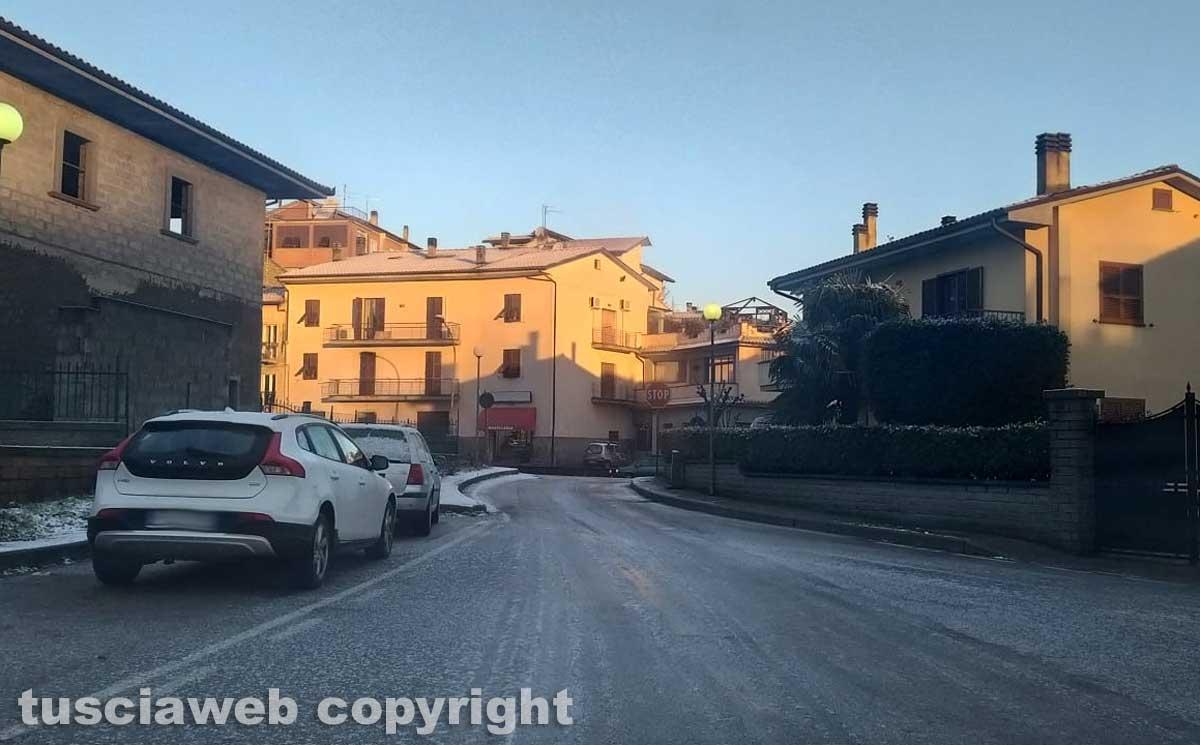 Fiocchi di neve a Montefiascone