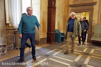 Viterbo - Michele Placido a Palazzo dei Priori