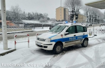 Maltempo - La neve a Montefiascone - Polizia locale