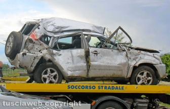 Civita Castellana - Incidente mortale in strada Falerina