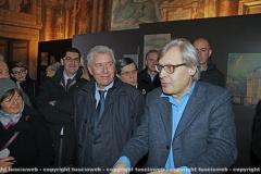 Vittorio Sgarbi con il sindaco Leonardo Michelini