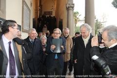 Taglio del nastro delle mostre con Vittorio Sgarbi